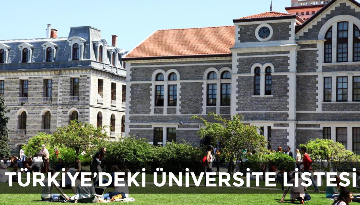 Türkiye'deki Üniversiteler Listesi